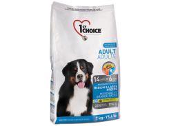 Сухой корм для взрослых собак средних и крупных пород 1st Choice со вкусом курицы 7 кг