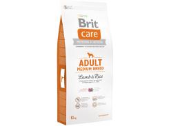 Сухой корм для взрослых собак средних пород Brit Care Adult Medium Breed Lamb & Rice 12 кг (8595602509928)