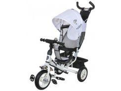 Велосипед трехколесный на надувных колесах Mars Mini Trike Бело-серый (950D)