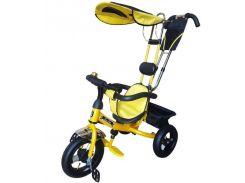 Велосипед трехколесный Mars Mini Trike с надувными колесами Желтый (LT950 air)