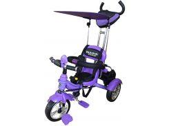 Велосипед трехколесный Mars Trike на надувных колесах Фиолетовый (KR01 air)