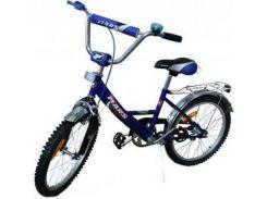 Велосипед Mars Ручной тормоз + Эксцентрик, сине-черный (С1601 с/ч)