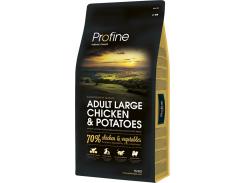 Сухой корм для взрослых собак крупных пород Profine Adult Large Chicken с курицей и картофелем 15 кг (8595602517459)