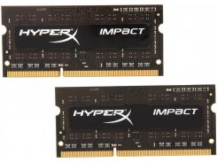 Kingston 8 Gb (2x4GB) SO-DIMM DDR3L 1600 MHz HyperX Impact (HX316LS9IBK2/8)