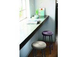 Стул пластиковый Keter Cozy Bar STOOL, дымчато-пурпурный
