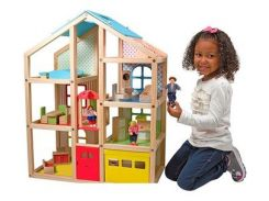 Кукольный домик Melissa&Doug с подъемником и мебелью (MD2462)