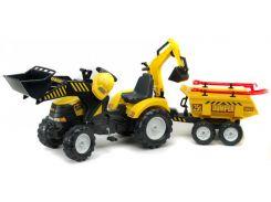 Детский трактор Falk Powerloader на педалях Желтый (1000WH)