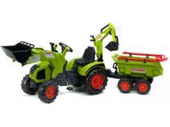 Детский трактор Falk Claas Axos на педалях Зеленый (1010WH)