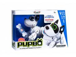 Интерактивный робот Silverlit Собака-робот Pupbo, белый с черным (88520)