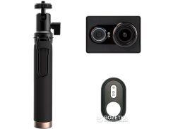 Видеокамера Xiaomi Yi Sport Black + Монопод Yi  Пульт ДУ (Международная версия)