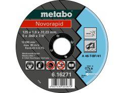 Отрезной диск Metabo Novorapid по металлу 125 x 1.0 x 22.23 мм