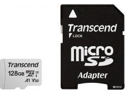 300S microSDXC 128GB UHS-I U3 + SD-Adapter (TS128GUSD300S-A)