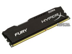 Оперативная память HyperX DDR4-2400 8192MB PC4-19200 Fury Black (HX424C15FB2/8)