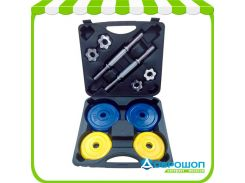 Набор гантелей FitLogic Home Dumbbell Rubber Set Box 20kg