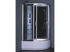 Гидробокс без пара, с электроникой на глубоком поддоне 1200*850*2150 мм, полностью стекл. GREY, левый