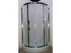 Душевая кабина AquaStream Premium 110L  одна дверь 100х100х195