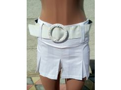 Юбка-шорты женские атласные белый, 42