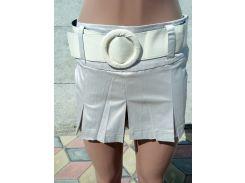 Юбка-шорты женские атласные серый, 34