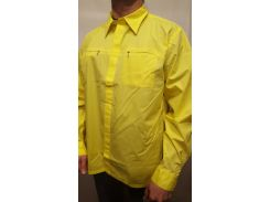 Рубашка мужская  желтый, XL