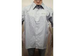 Рубашка мужская  серый, L