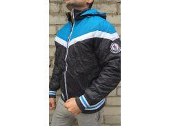 Мужская куртка MONCLER Зима серо-голубой, L