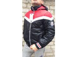 Мужская куртка MONCLER Зима красно-черный, L