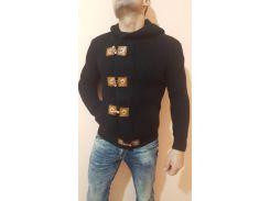 Свитер мужской теплый GULIS черный, XL