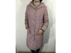 Куртка женская батал пудра удлиненная 48