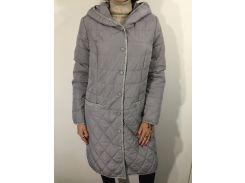 Куртка женская батал серая удлиненная  48