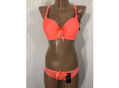 Комплект нижнего белья женский 9174 оранжевый неон 90C-L