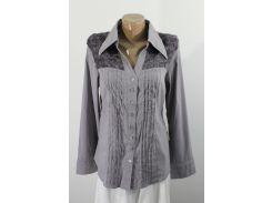 Рубашка женская серая 03171