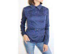 Рубашка женская темно-синяя1348 1