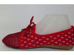 Балетки женские  красный
