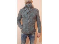 Свитер мужской теплый GULIS серый, XL