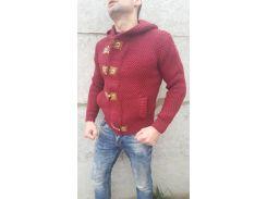 Свитер мужской теплый GULIS красный, M