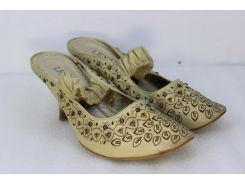 Женские туфли Leyaes J146-C671 бежевые 40