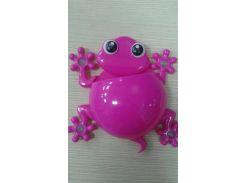 Держатель для зубной щетки и пасты (лягушка) Розовый