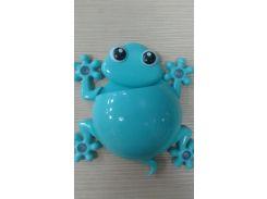 Держатель для зубной щетки и пасты (лягушка) Голубой