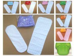 Многоразовые подгузники комплект(+два вкладыша) Универсальный Для девочек