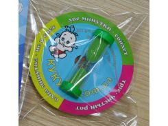Часы песочные для отсчёта времени при чистке зубов.  зеленый