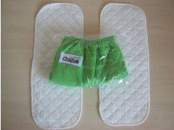 Набор подгузник+2 вкладыша  Зеленый