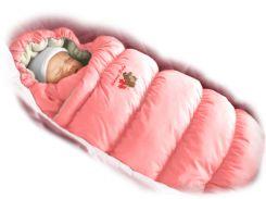 Конверт-пуховик розовый (ЗИМА)