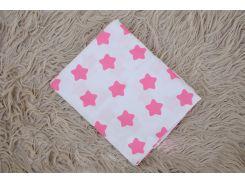 Простынь на резинке в кроватку Малиновая звезда