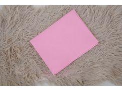 Простынь на резинке в кроватку Розовая