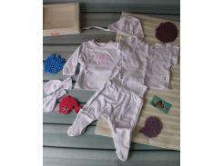 Подарочный комплектик для девочки на выписку 56 р