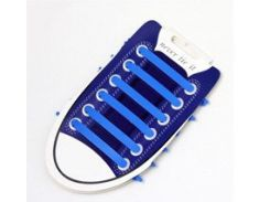 Силиконовые шнурки для обуви Синий