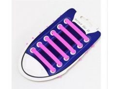 Силиконовые шнурки для обуви Розовый