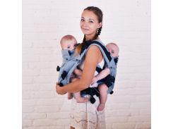 Эрго рюкзак для близнецов Серый