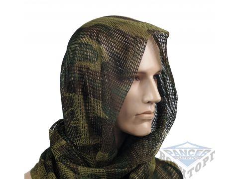 Сетка-шарф маскировочная камуфляж woodland 190х90 см (65% полиэстер/35% хлопок) Киев