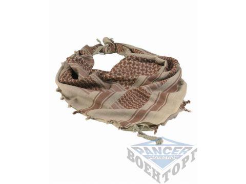 Шарф-шемаг арафатка хаки/коричневый хлопок (110х110 см) Киев